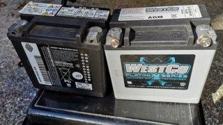 ハーレーのバッテリー交換 (WESTCOバッテリー取付け編)